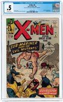 1864 X-Men 6 CGC 0.5 Sub-Mariner APP! Kirby Cover! Worldwide shipping!
