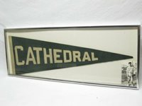 Cathedral College Immaculate Conception Ny Baseball Felt Pennant Vtg Old