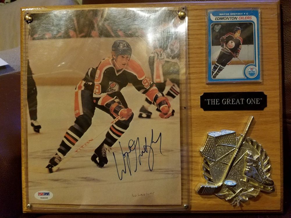 Wayne Gretzky Rookie Card And Signed Photo Psadna 8x10the Great One