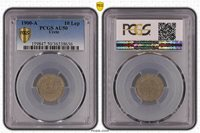 Greece 10 Lepta 1900 -A Crete PCGS AU50