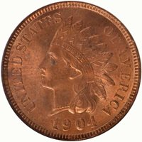 1904 1C Indian Cent NGC MS64RD