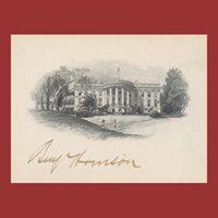 Benjamin Harrison, White House Card, Signed