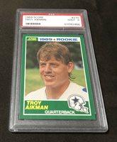 1989 Score #270 Troy Aikman RC PSA 9 Mint Dallas Cowboys HOF Rookie