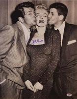 JERRY LEWIS Signed 16x20 Photo w/ MARILYN MONROE & DEAN MARTIN PSA/DNA COA E