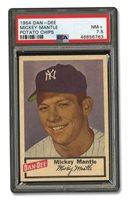 1954 DAN-DEE POTATO CHIPS MICKEY MANTLE - PSA NM+ 7.5