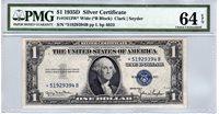 Fr.1613W* $1 1935 D STAR PMG Choice Uncirculated 64 EPQ