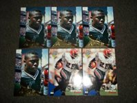 Lot of 6 Marshall Faulk rookie cards- Colts/Rams - great value!