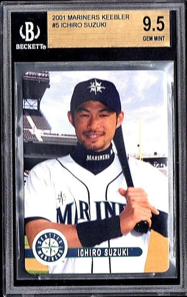 2001 Seattle Mariners Keebler 5 Ichiro Suzuki Rookie Cardbgs 95 Gem Mint