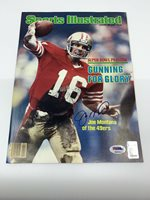 Joe Montana signed Sports Illustrated autographed magazine 49ers PSA K00819