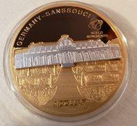$1 Cook Islands 2010 Sanssouci Castle Germany Cuni/Au plt 2 pc Set