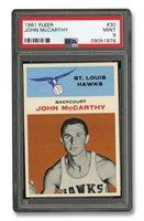 1961 FLEER #30 JOHN MCCARTHY - PSA MINT 9