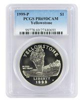 Faded Label 1999-P PCGS PR69DCAM Yellowstone Commemorative Dollar