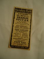 Charlie Spivak and Orchestra 1951 concert ad HERSHEY Park PA