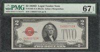 1928D $2 Legal Tender Note Red Seal - PMG Superb Gem Uncirculated CU 67EPQ - C2C