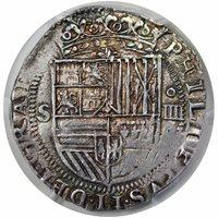 (1556-98)-S DD Spain 4RPhilip II TypeMS62 [PCGS Gold Shield]