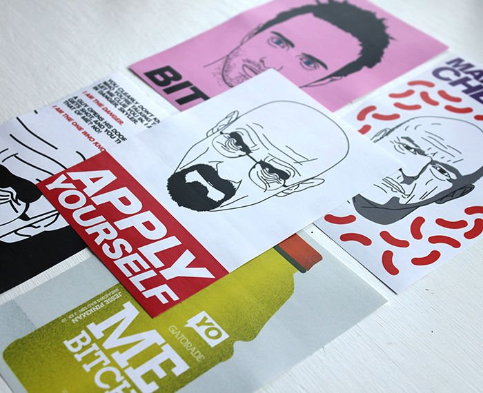 5 Breaking Bad Stickers Original Bestplayever Design Bumper Sticker