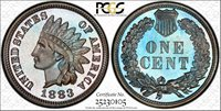 Virtually Flawless 1883 Proof Indian Cent 1883 Indian Cent PCGS Gold Shield PR-67BN.
