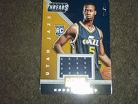 Rodney Hood 14-15 Panini Threads Debut RC jersey card #136/199- Jazz