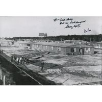 The Great Escape multi-signed Stalag Luft III photo