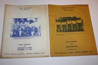 Lot of 13 - PEARL PIRATES Football Programs Books - 1975-1987 - Mississippi