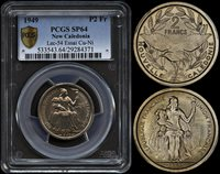 NEW CALEDONIA 2 FRANCS 1949 ESSAI (PCGS SP64) *ONLY 2,000 MINTED*