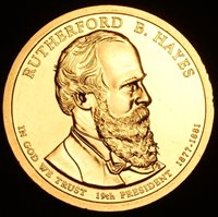 2011 D Rutherford B Hayes ~ Presidential Dollar ~ Pos A ~ From U.S Mint Roll