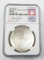 2014 Silver $1 Cal Ripken JR Baseball Hall of Fame Commemorative Coin NGC MS70