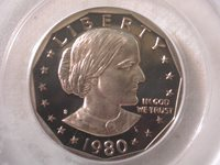 1980-S Susan B. Anthony Dollar PCGS PR 69 DCAM