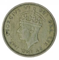 1947 CYPRUS ONE SHILLING, VF