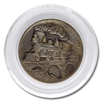 Lee Griffiths Hobo Nickel Carved On A Mint State 1913 Buffalo Nickel - Hobo &Train