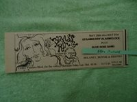 Strawberry Alarm Clock / Blue Rose Band 1970 concert ad Brass Ring Sherman Oaks