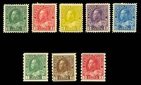 1911-25 ADMIRALS GROUP MINT, #107, 109, 110, 111, 117, 125, 129, 130, LH or h.r., fine-very fine, cat. $307.50 (Photo)