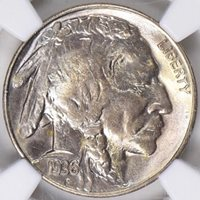 1936-S BUFFALO NICKEL, NGC MS-65