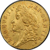 1687 Gold Guinea S-3402 Great Britain PCGS AU53 Great Britain
