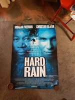 HARD RAIN MORGAN FREEMAN ORIGINAL AUST SINGLE SHEET MOVIE POSTER