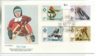 Yugoslavia (67) FDC - 1984 - Olympic Games - The Luge