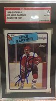 WASHINGTON CAPITALS signed MIKE GARTNER #50- 1988-89 Topps HOF - AUTHENTICATED
