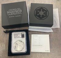 2019 NIUE STAR WARS DARTH VADER Colorized Ruthenium 1oz Silver Coin Box /& COA