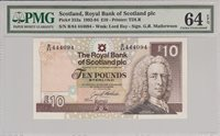 10 Pounds Scotland P 353a 1993 Pmg 64 Epq