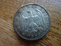 1925J 2 Reichs Mark Silver Coin Germany(ref6a)