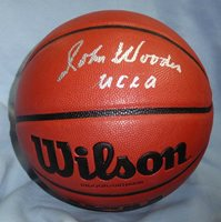 info for 77834 b57dd John Wooden Autographed Signed Ucla Bruins Basketball P