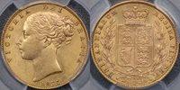 1877 Sydney Shield Reverse Sovereign - PCGS MS62