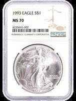 1993 Silver Eagle NGC MS70