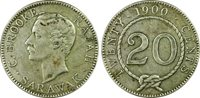 SARAWAK. 1900-H 20 Cents. PCGS XF 40