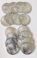 50 Qindarka 1964 Albania (Shqiperi) Aluminum 17 Coin Lot Unc/BU