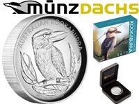 $1 High Relief Kookaburra 1 oz Silver Australia 2012 Proof