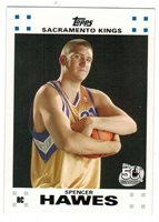 Spencer Hawes LOT 2007-08 TOPPS ROOKIE White Border #10 of 14 50TH ANNIVERSARY
