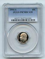 1994 S 10C Clad Roosevelt Dime Proof PCGS PR70 PR70DCAM