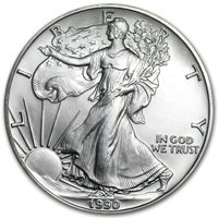 1990 Silver Eagle - Brilliant Uncirculated