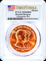 2016 Ronald Reagan Medal PCGS MS68 First Strike